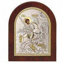 Икона с серебром Георгий, 12х10см