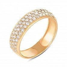 Кольцо из желтого золота с фианитами 000134650