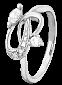 Серебряное кольцо с цирконием Лукреция  000025794