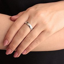 Золотое обручальное кольцо Сияние сердца