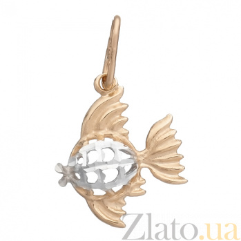 Золотой кулон Рыбка LEL--62027