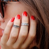 Серебряное кольцо на фалангу Rim