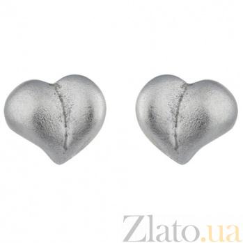 Сережки-гвоздики из белого золота Ирэн SVA--2001203102/Без вставки
