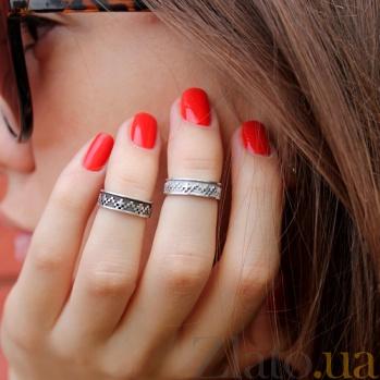 Серебряное кольцо на фалангу Rim 000019578