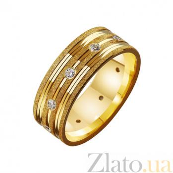 Золотое обручальное кольцо с фианитами  Анабелла TRF--4121626