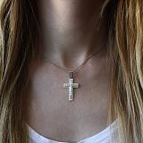Крестик из серебра Силы Небесные