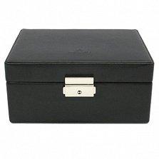 Шкатулка для хранения часов Merino в черном цвете