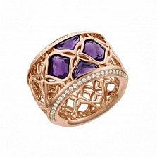 Кольцо из розового золота с аметистами и бриллиантами Imperiale