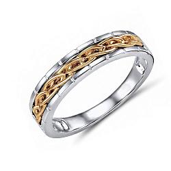 Обручальное кольцо Эрнеста из красного и белого золота