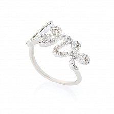 Серебряное кольцо Love с фианитами