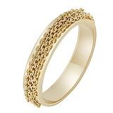 Золотое кольцо Динамика в желтом цвете