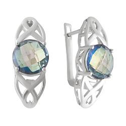 Серебряные серьги с мистик топазами 000128600