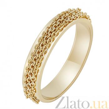 Золотое кольцо Динамика в желтом цвете 000032636