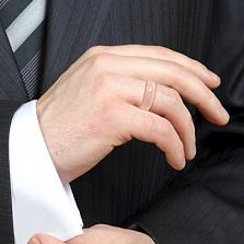 Обручальное кольцо Верность: Сила из розового золота с бриллиантами