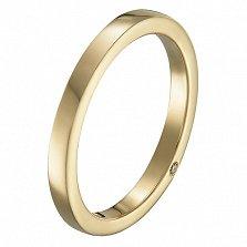Обручальное кольцо Добро в желтом золоте с фианитом