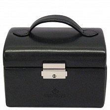 Маленькая черная шкатулка для украшений Merino Moda с зеркалом