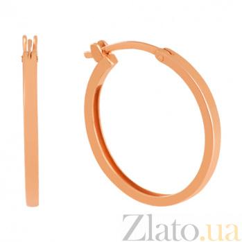 Золотые серьги-кольца Офелия 000027237