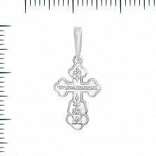 Крестик в белом золоте Надежда