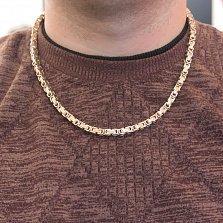 Золотая цепь Baraka Идальго в комбинированном цвете с белым бриллиантом на замке