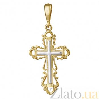 Серебряный крестик Благословение 000025209
