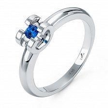 Серебряное кольцо Дора с сапфиром