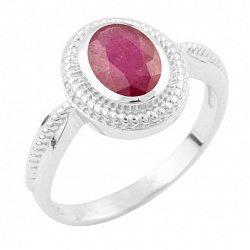 Серебряное кольцо Фиделия с рубином