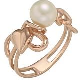 Золотое кольцо Лаверн с жемчугом