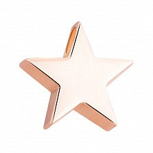 Золотой подвес Счастливая звезда, глянец
