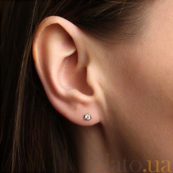 Золотые серьги с бриллиантом Инесса SVA--2101004202/Бриллиант