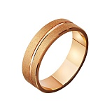Золотое обручальное кольцо Мгновение любви