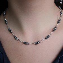 Серебряная цепь Мальвина с чернением