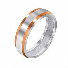 Серебряное кольцо Миорно с золотой вставкой