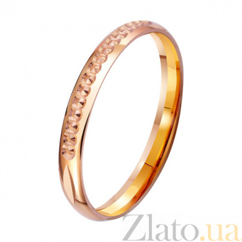 Золотое обручальное кольцо с алмазной гранью Звездная роскошь TRF--4111294