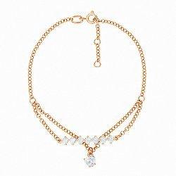 Браслет из красного золота с кристаллами Swarovski 000138709