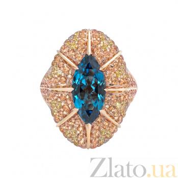 Золотое кольцо с сапфирами и бриллиантами Solomia 1К113-0195