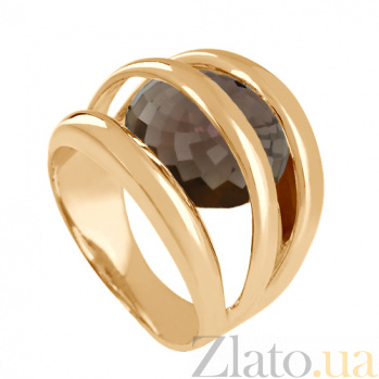 Золотое кольцо с раухтопазом Сюрприз VLN--112-256-2