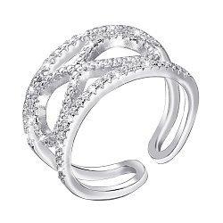 Серебряное кольцо с фианитами 000140606