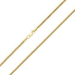 Цепочка из желтого золота в плетении круглый снейк, 1,5мм 000050549