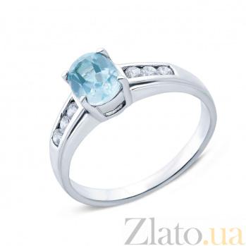 Серебряное кольцо с топазом Кларити AQA--R01430T