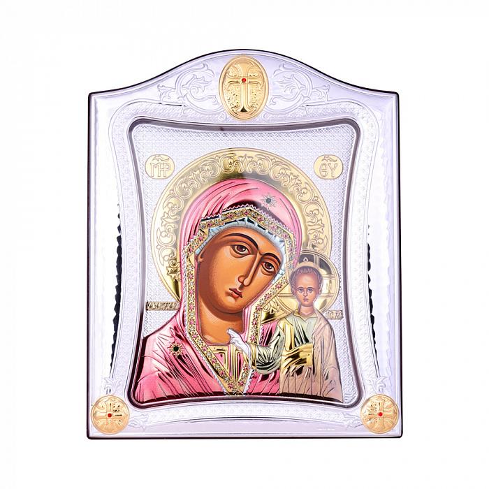 Посеребренная икона Богородица Казанская на подставке 000131795 000131795