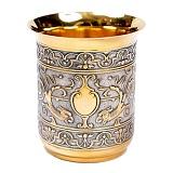 Серебряный стакан Грифоны с позолотой