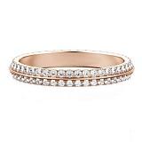 Обручальное кольцо из розового золота с бриллиантами Вершина моей мечты