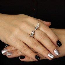 Золотое кольцо Ангельские крылья c бриллиантами