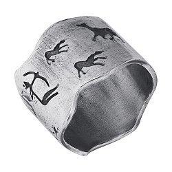 Кольцо из серебра Hunt с чернением 000091451