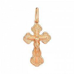 Крестик Хранитель в красном золоте 000055081