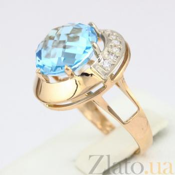 Кольцо из красного золота с голубым топазом Юмалия VLN--112-1191-1