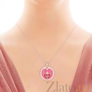 Подвес из розового золота с бриллиантами Талисман: Любви 2857