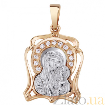 Золотая ладанка  Богородица AUR--34205