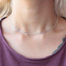Серебряная цепочка Эйви в панцирном плетении с перемычками, 2мм