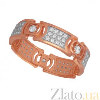 Кольцо из красного золота с фианитами Мелинда VLT--ТТ1250